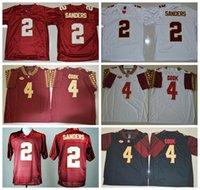 Wholesale Florida State Seminoles College Jerseys NCAA FSU Football Jersey Deion Sanders Dalvin Cook Fashion Team Color Red White Black