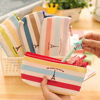 Wholesale New Cute Pencil Rainbow Tower Pen Bags Kawaii School Pouches Style Fabric H0192