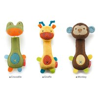baby deer sounds - 2016 NEW Soft Baby Toy cm Cartoon Animal Teether Rattle Squeaker BB Sounder Early Educational Doll Crocodile Deer Monkey