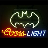 batman store - Coors Light Batman Bat Neon Sign Store Shop Sign Display Advertisement Sign Real Glass Tube Sign Handcrafted Neon Light BeerBar Sign quot X20 quot