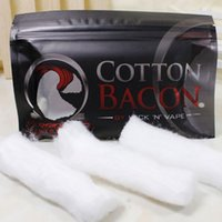 Wholesale COTTON BACON Cotton Pure Bacon Cotton By Wick N Vape For DIY RDA RBA Atomizers E Cigarette Vaporizers