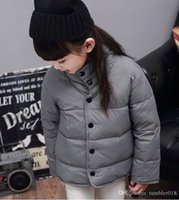 Wholesale baby girl and boy sport Medium and long style coat kids children winter jacket style colors size for T kids winter coats