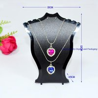 Wholesale Plastic Jewelry Display Neck Bust Pendant Necklace Stand Holder Rack Mini Size