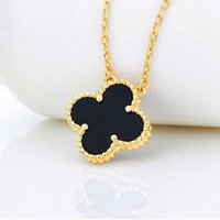 Wholesale Package mail authentic clovers k rose gold plated necklace for women Japan and ms brief paragraph pendant necklace chain of clavicle