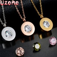 cubic zirconia stone - 2016 Top Quality Brand Crystal Body Chain Stainless Steel CZ Stone Necklace for women Valentine Gift