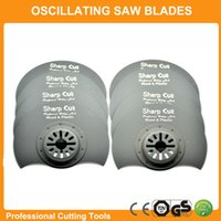 Wholesale 10pcs mm Segment saw blades TPI half around multimaster power tools saw blades oscillaitng plunge saw blades for wood and plastic cut