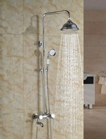 Wholesale And Retail Manufactory Sell Solid Brass Bathroom Rain Shower Faucet Tub Swivel Spout w Hand Shower Chrome Finish