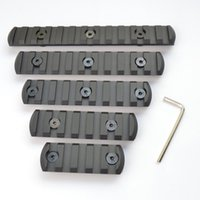 aluminum slots - 5 slot CNC Aluminum Picatiny Weaver Rail Section For Key mod Handguard Rail Mount