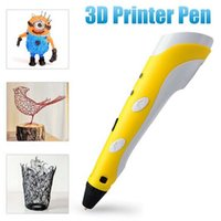 Wholesale 3D Stereoscopic Printing Pen Weight g Painters product designers hobbyists children students White Yello Power Adapter Filaments