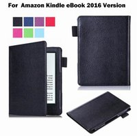amazon ebook kindle - 1pcs Popular PU leather Normal Book Style Flip Case for Amazon Kindle eBook Reader Version