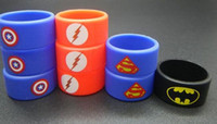 america bracelets - Personalized silicone bracelet customized silicone band cheap rubber band vape band vape band ring mm superman America shield