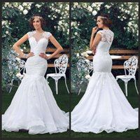 beach pictures buy - White Mermaid Tail Beach Wedding Dresses Scalloped Lace Appliques Zipper Back Customized Plus Size Buy Bridal Gowns