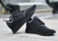 Wholesale NMD R1 triple black Men s and Women s Running Shoes nmd r1 all black primeknit S81847 Sneakers Eur36