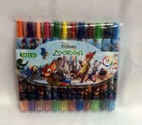 Wholesale New Popular Zootopia Students Color Rotating Crayons Oil Pastels For Best Gifts Painting Pens
