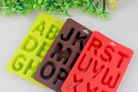 alphabet chocolate mold - 8 Cavities Alphabet design Silicone Cake Baking Mold Cake Pan Muffin Cups Handmade Soap Moulds Biscuit Chocolate Ice Cube Tray DIY Mold