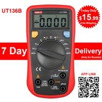 Wholesale UNI T Digital Multimeter UT136B Handheld Auto Range Voltage Current Capacitance Resistance Frequency Digital Multimeters