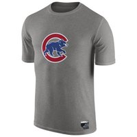 banner t shirt - New Men MLB Chicago Cubs Baseball T shirts Fanatics Apparel Platinum Collection Tri Blend Banner Wave Authentic Collection Short sleeves