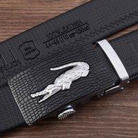 alligator mens belts - New Designer Stone alligator buckle Automatic Buckle Cowhide Leather belt men designer belts mens belts luxury cm