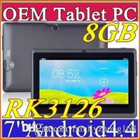 Wholesale DHL inch GB MB Capacitive RK3126 Quad Core Android dual camera Tablet PC WiFi EPAD Youtube Facebook I PB