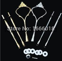 Wholesale long thread Cake Stand Handles Cake Stand Fittings Tier crown VERY HEAVY and STRONG fineworks
