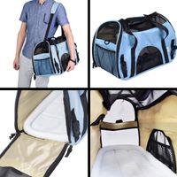 Wholesale Large Pet Carrier OxFord Soft Sided Cat Dog Comfort Travel Tote Shoulder Bag