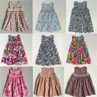 Wholesale 2016 Top Fashion Dresses For Girls Princess Short New Dress Kids Flower Print For Girls Hand Making High Quality Summer