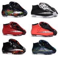 Wholesale 2016 Cheap Fashion Mens Football Boots Superfly Boots Football Soccer Shoes High Ankle Football Shoes Size