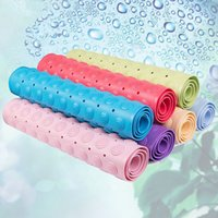 Wholesale 36 cm cm cm Household Home Textiles Bathroom Antiskid Carpet PVC Plastic Material Elastic Oblong Rug Floor Mat