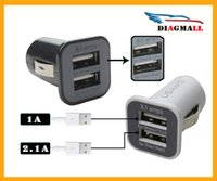 Wholesale Micro Auto Universal Dual Port USB Car Charger For iPhone iPad iPod A Mini Car Charger Adapter