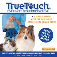 Wholesale True Touch Deshedding Glove for Gentle and Efficient Pet Grooming Dog and Cat Supplies