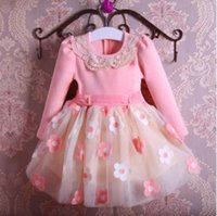 Wholesale 2016 Hot Sale cm cm Lovely Baby Dresses Autumn Winter Long Sleeve Thick Princess Dress Children Kid Infant Girls Clothing
