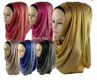 Wholesale pieces viscose muslim hijab with glitter shinny shawl islamic scarf Can Choose Colors QK006