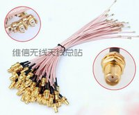Wholesale Straight RF SMA Female Pin female to IPEX IPE U FL Connector pigtail cable inner hole CM RG178