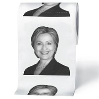 Wholesale DHL OR EMS Hillary Clinton Toilet Paper Donald John Trump Tissue Sheets Roll Paper