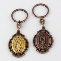 band icon - Hot Antique Copper DIY Accessories Material Zinc Alloy mix Jesus Christians Icon Charm Band Chain key Ring