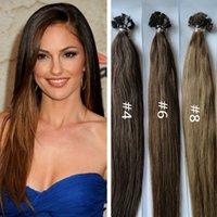 ash brown hair color - 1g s g Peruvian Remi Hair Color Ash Brown Straight Custom Capsule Keratin Flat Tip Fusion Human Hair Extension