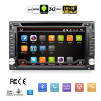 Wholesale Auto map Din Pure Android Car DVD Player Navigation Stereo Radio GPS WiFi G CAPACITIVE Touch Screen USB Camera Car PC TV
