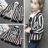 Wholesale Jackets Outwear Baby Kids Clothing girls striped Mickey Mouse Jacket coat toddler clothes baby boutique clothing