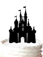 Wholesale Birthday cake topper Silhouette castle acrylic cake topper for birthday party wedding gift suitable for inch cake