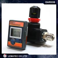 air gun regulators - LEMATEC Digital air pressure regulator air flow regulator with lock for spry gun paint gun air tools Digital air regulator