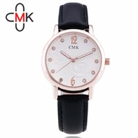 analog mail - Authentic CMK Package Mail Fashion Watches Student Table Couples Watch Korean style Men And Women Genuine Leather Strap Watch