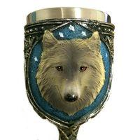 bar wolf - Lovely Wolf Head Goblet Cup Stainless Steel Creative Spirits Vodka Glasses Garnett Red Wine Goblet Diamond Bar Gift