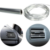 Cheap New 4mx 8mm U Shape Car Air Vent Grille Switch Rim Trim Conditioner Outlet Decoration Strip Moulding Chrome Silver