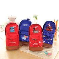 Wholesale Hot Sale Student s Mini School Bag Pen Pencil Bag Holder Canvas Children Pen Case Pouch CKR