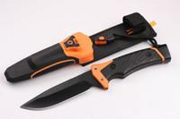 bear grylls - G B GRYLLS GB Bear Bell survival series ultimate pro fixed blade folding knife knives freeshipping