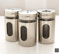 air conditioning supplies - Stainless steel with a lid seasoning pot with air conditioning material box kitchen supplies seasoning cans seasoning sauce bottles wholes