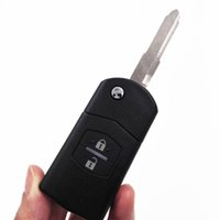 Wholesale A Quality Buttons MHz Folding Remote Key Uncut Blade for Mazda M3 M6 With LOGO
