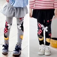 Wholesale Baby Girls Leggings Spring New Children Mickey Printing Leggings Girl Pants Character Kids Pantskirt Infants Girls Dress Leggings