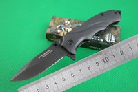 aluminum hunting boats - MICK Strider Flipper Small Fast Open B Thallium boats Folding Knife CR13 OEM HRC Blade Aluminum Handle Camping Hunting Pocket Knives