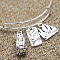 american trailer - 12pcs Camping Trailer Traveler with fire and Find joy in the journey charm bangle bracelet